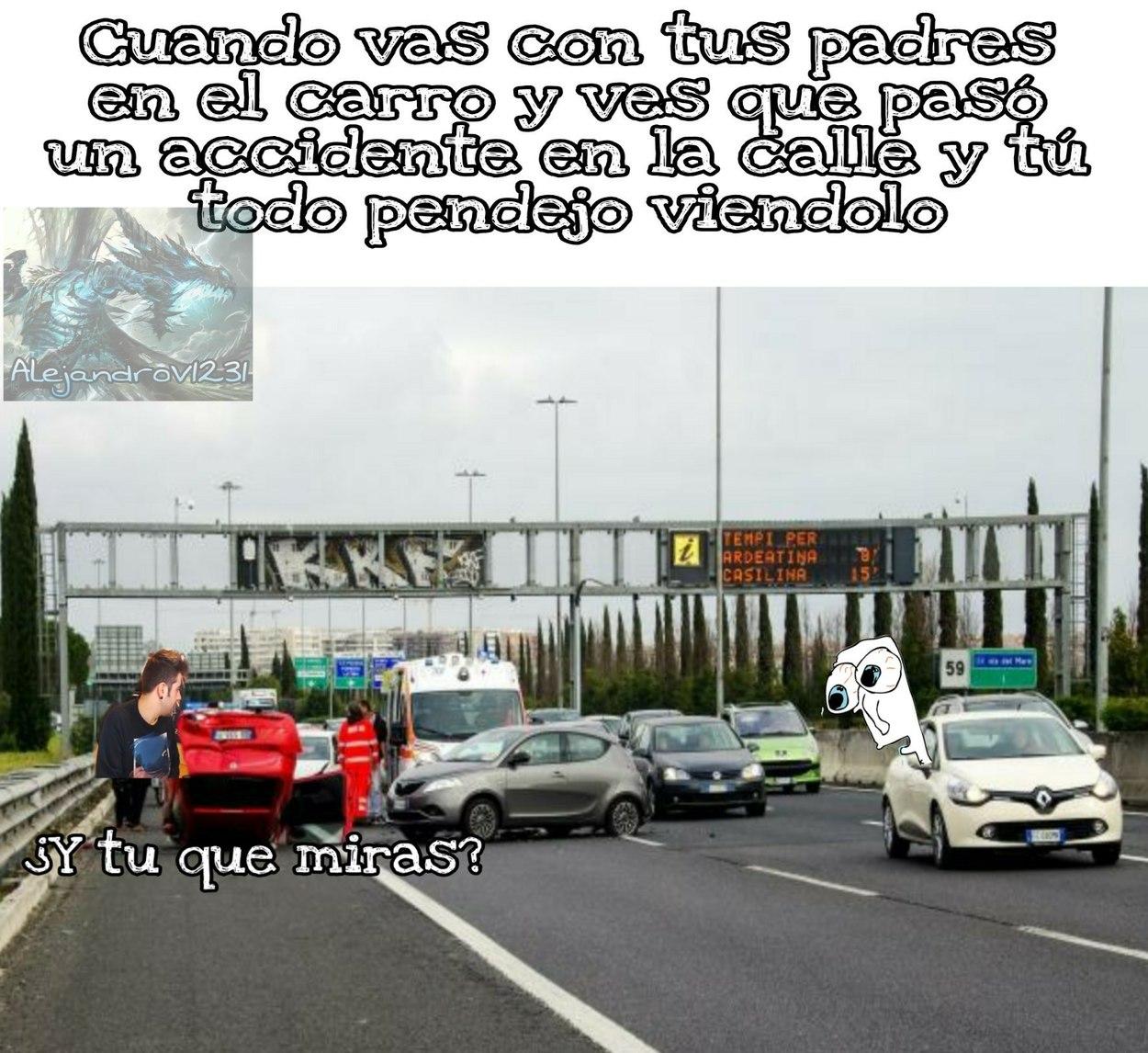 Pobres conductores - meme