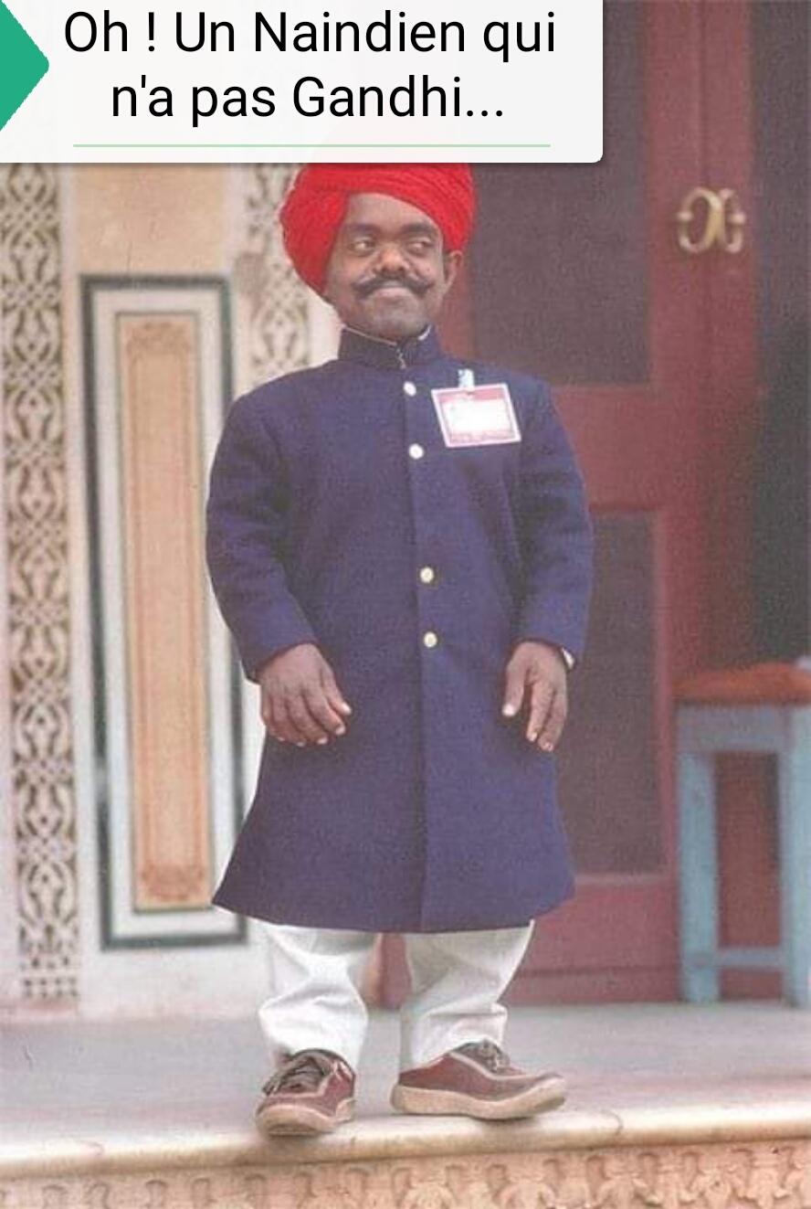 Oh ! Un Naindien qui n'a pas Gandhi... - meme