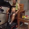 rara imagem de baianor se exercitando
