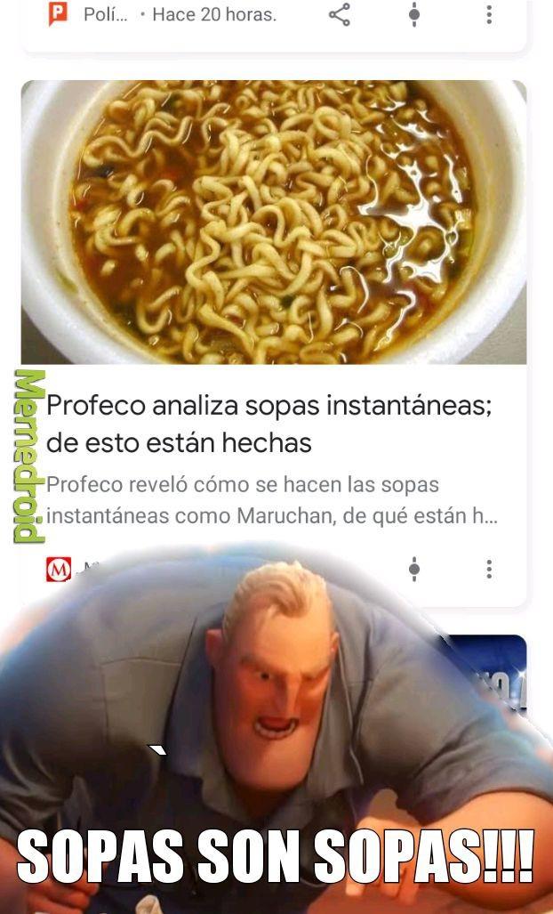 Si o si............ Sopa: SOPA - meme