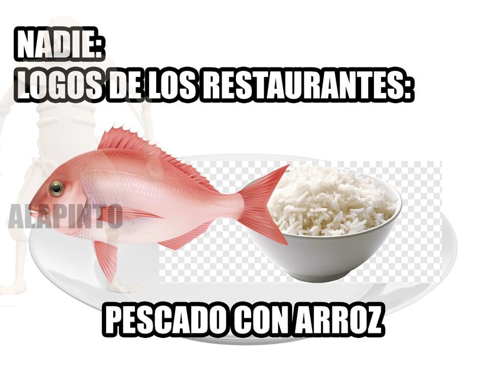 14/20 *ARROZ Y PESCADO* - meme