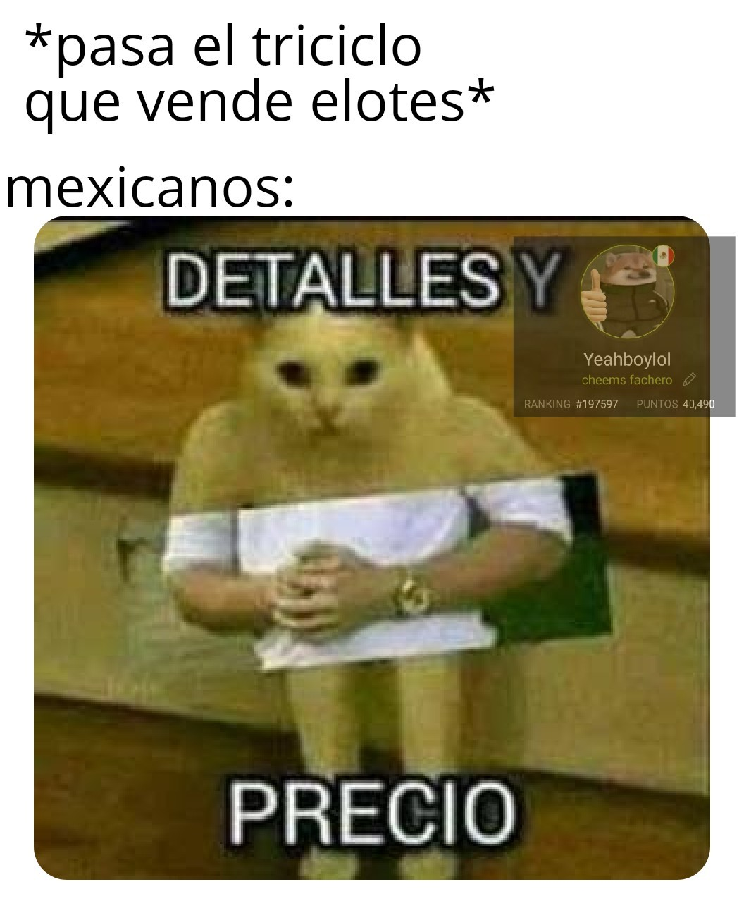 Choclo - meme