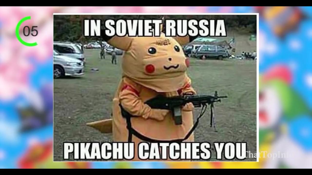 Pokemon go na russia - meme