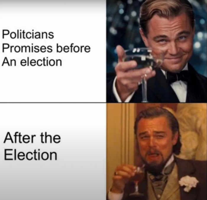 Fuck this election we are screwed either way - meme