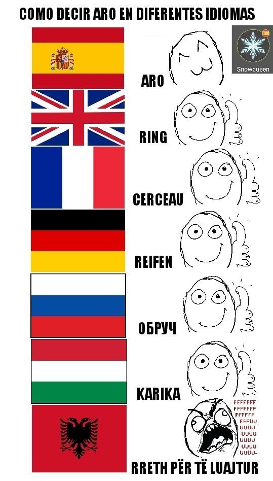 Diferentes idiomas - meme
