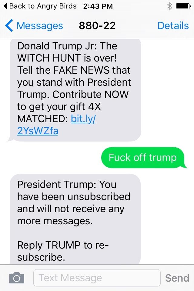 Fuk off trump - meme
