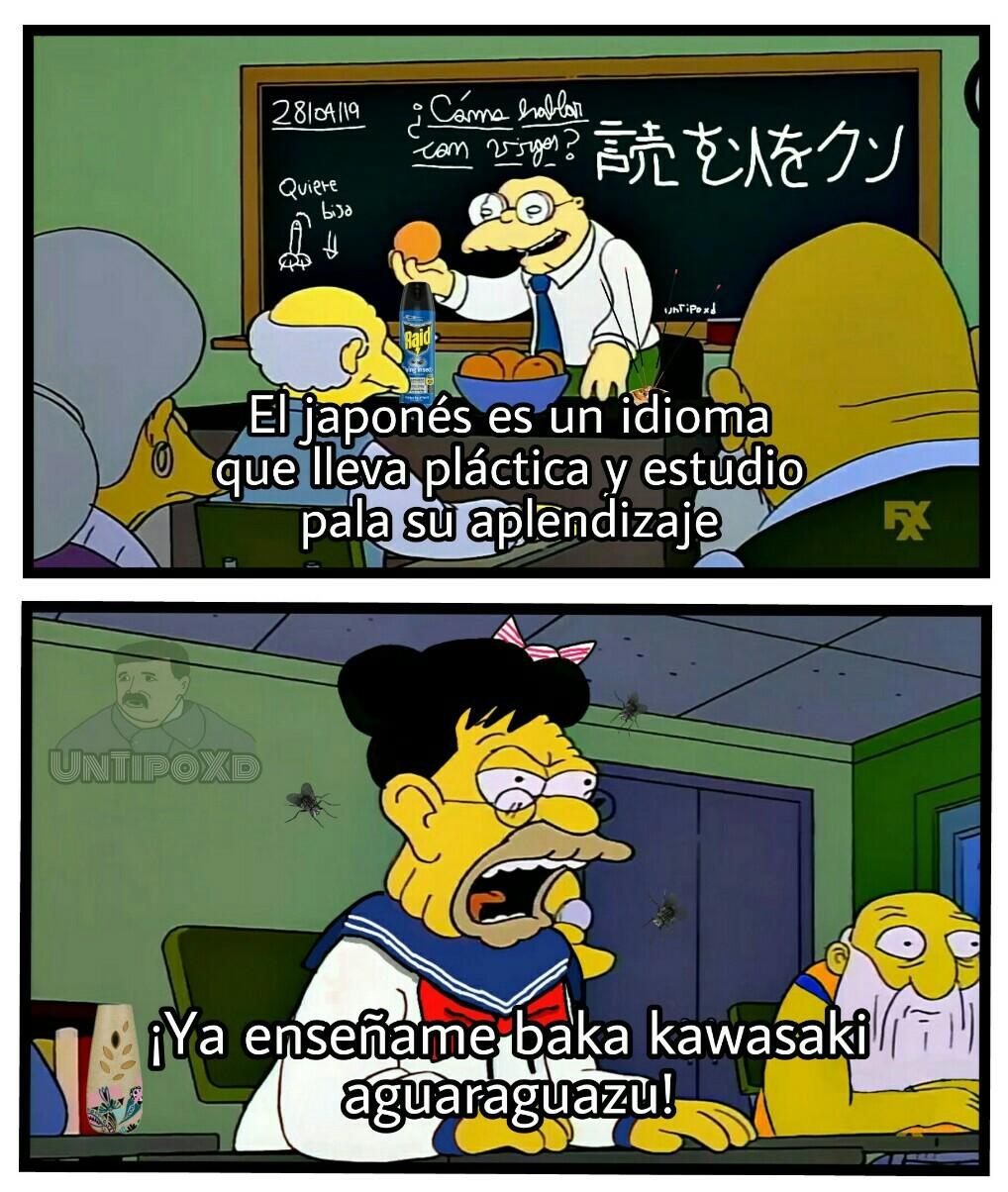 No tiene nada que ver con el japonés el aguaraguazu. - meme