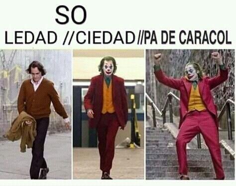 Las tres so del joker - meme