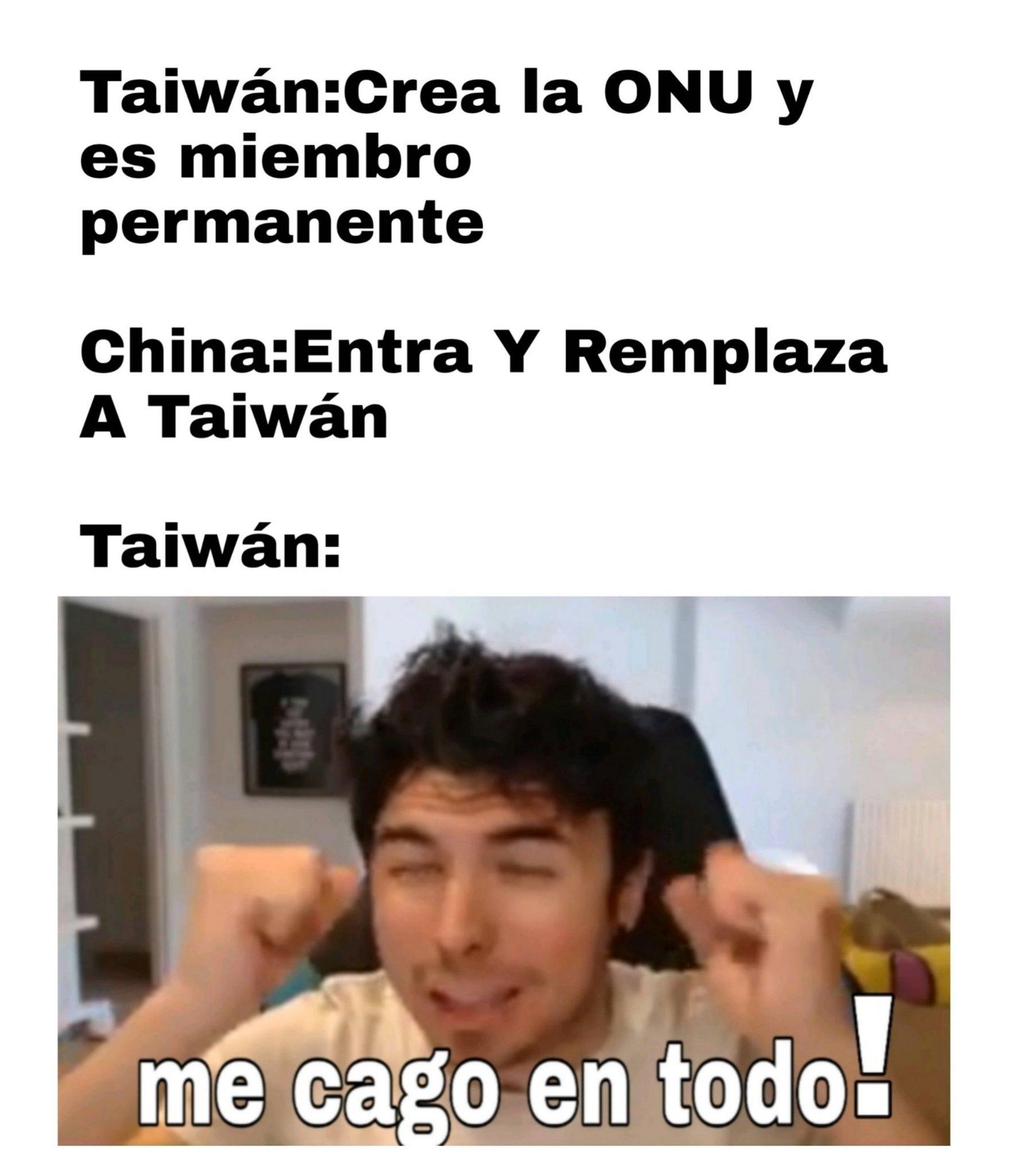 Pobre Taiwán - meme