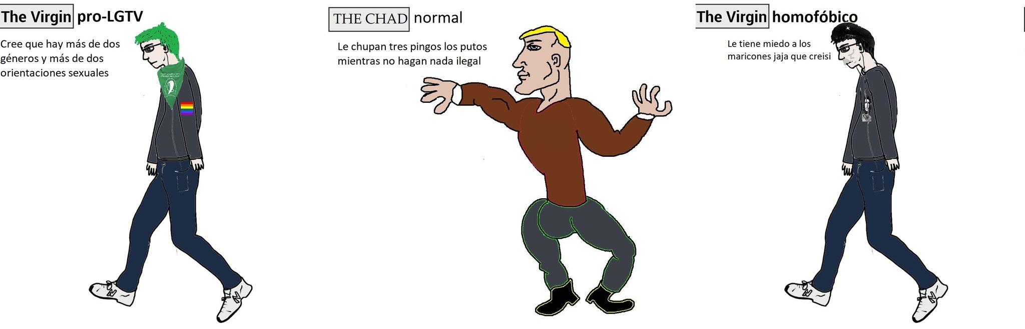 Vivan los normales. - meme