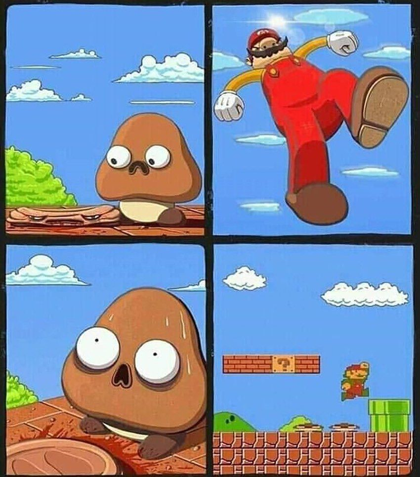 No Mario no lo hagas - meme