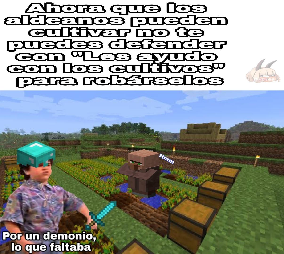 Chale, todos futuristas los aldeanos - meme