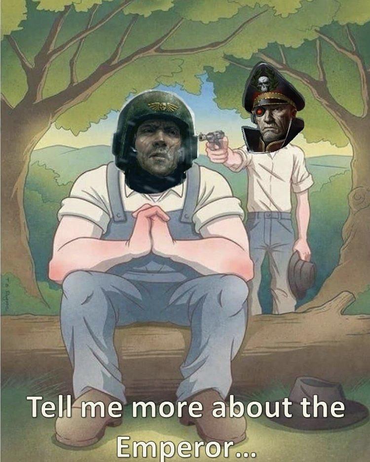 God-Emperor bless the Commissar - meme