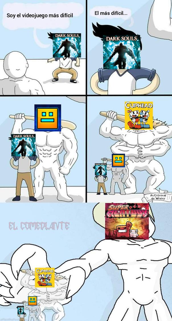 Dark Souls no es un mal juego... simplemente hay gente que lo sobrevalora como el más difícil - meme