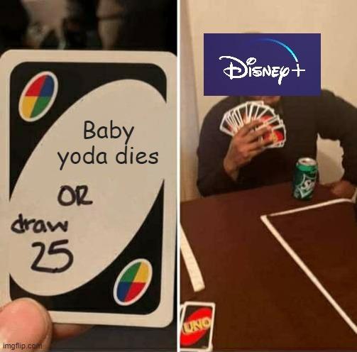 is baby yoda dead? - meme