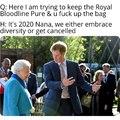 Queen roasts Harry