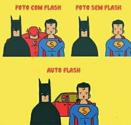 Photoflash *sigo de volta* - meme
