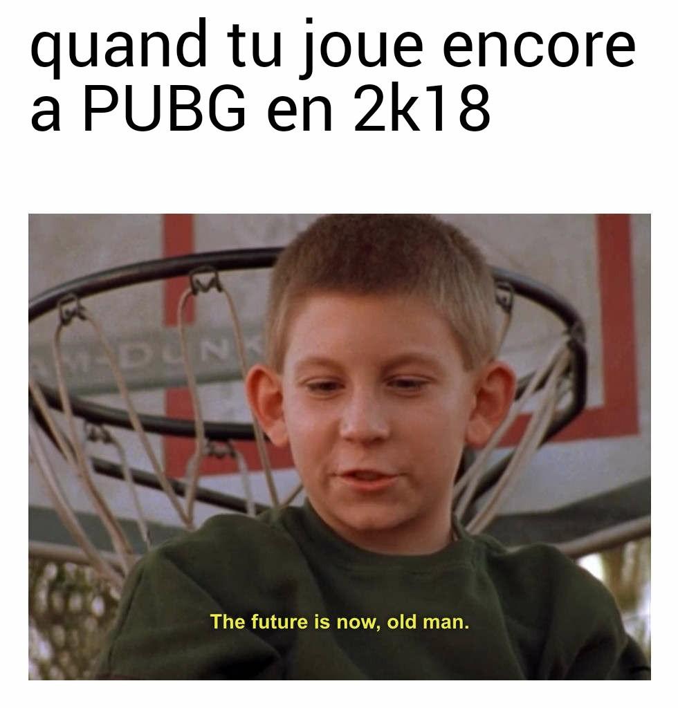 ''Le futur c'est maintenant vielle homme'' - meme