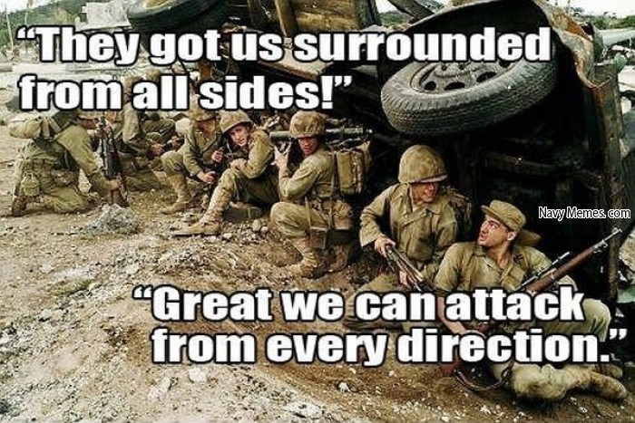 This is a actual quote by an American general. - meme