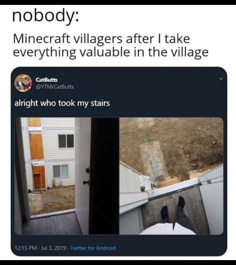 Got dang villagers - meme