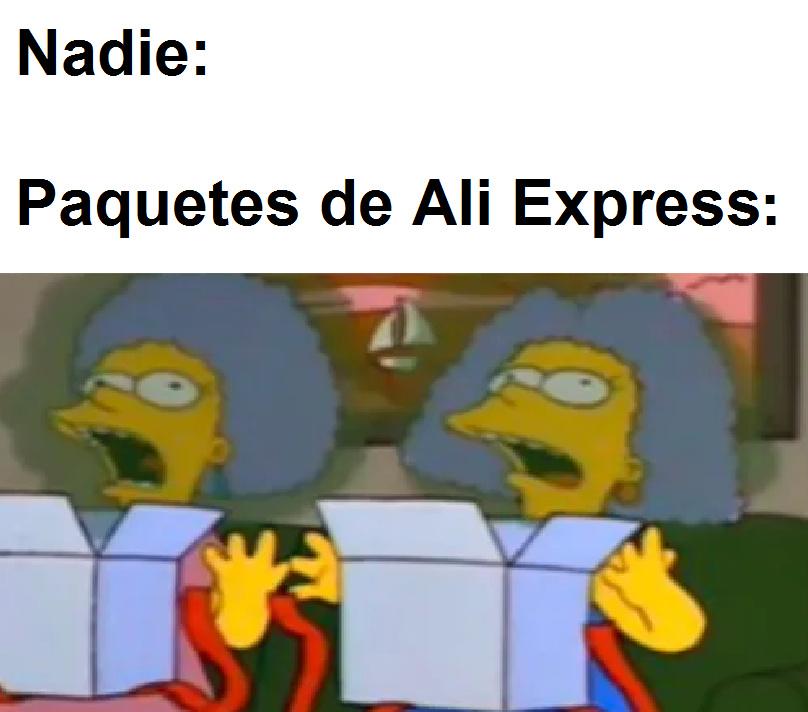 Yo abriendo mi paquete de ali express - meme