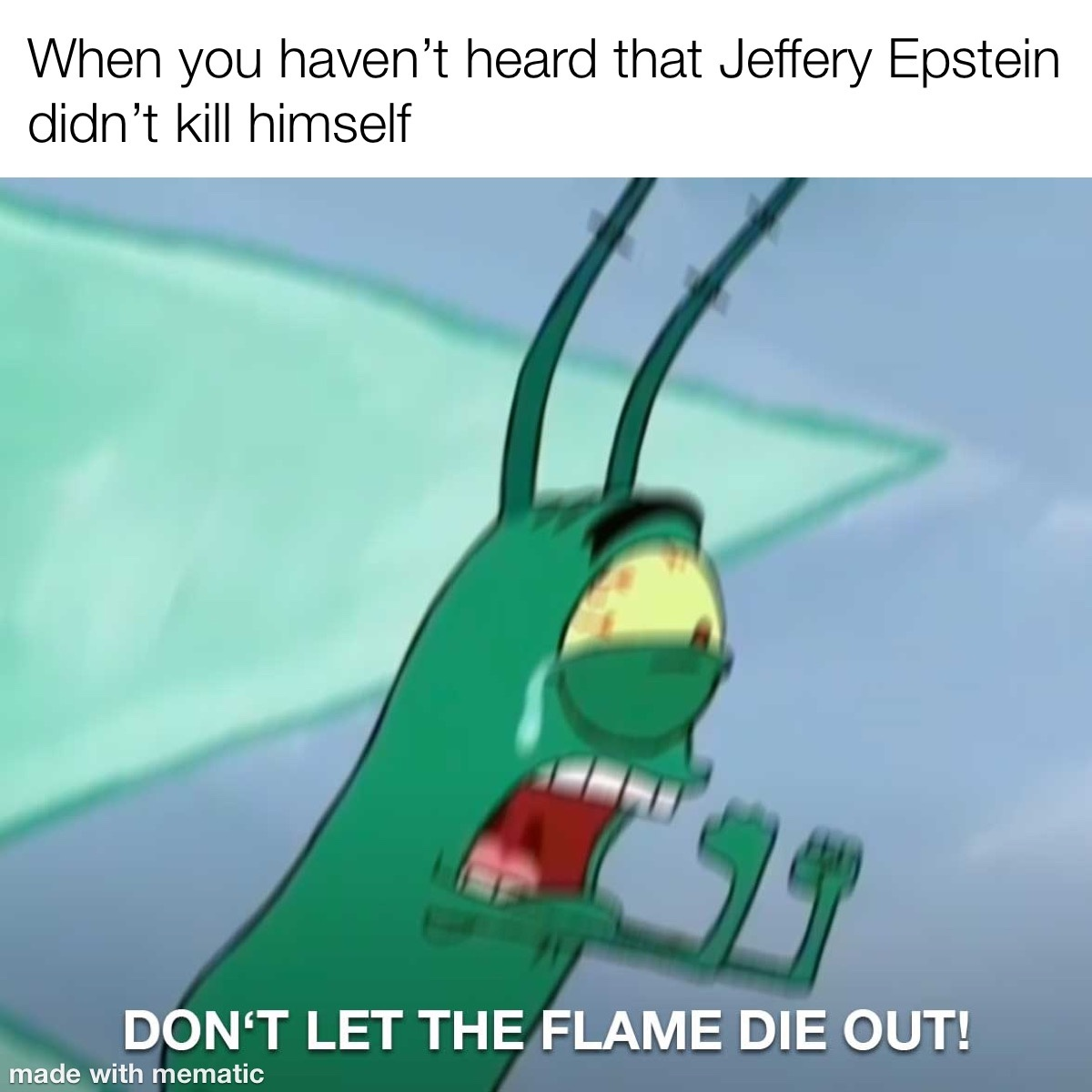 don't let the flame die - meme