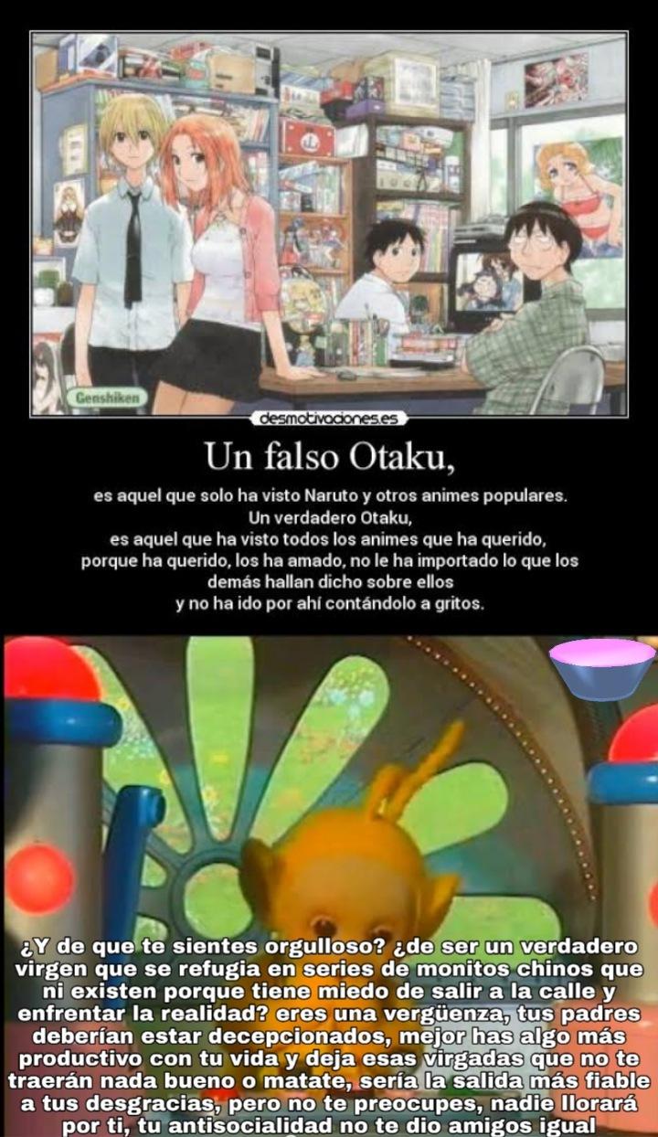 Salgan a la calle y conozcan gente de verdad otakus mugrosos - meme