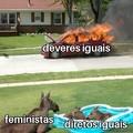 Outro meme com feministas