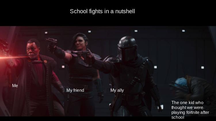 School fights - meme