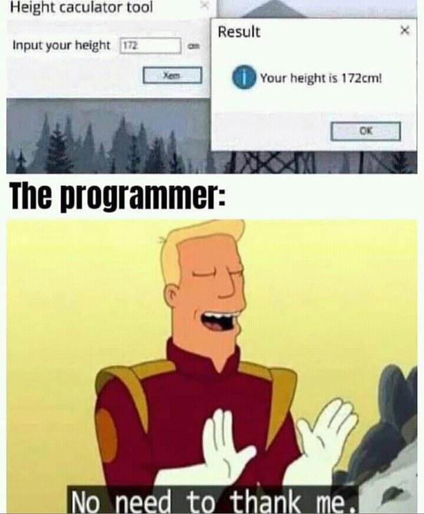 Programmer being programmer - meme