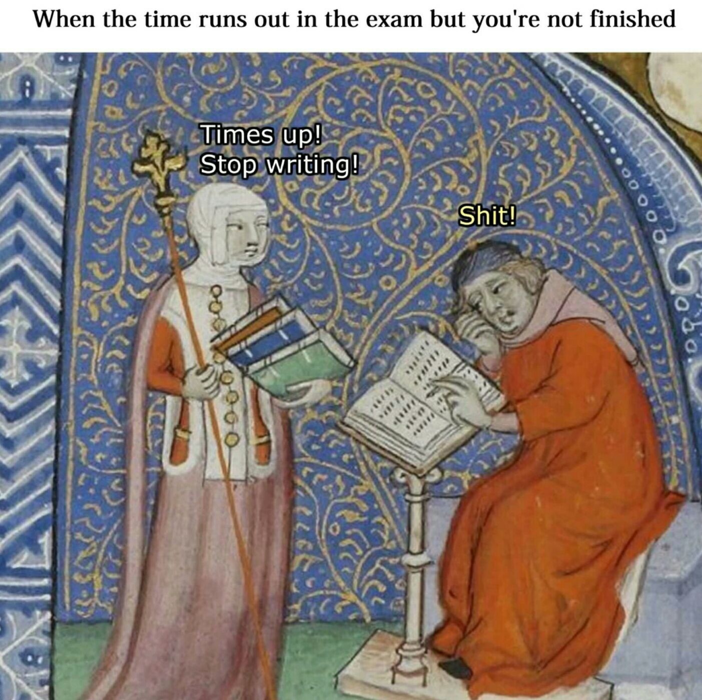Every exam - meme