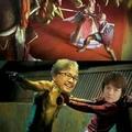 link de botw peleando con ganondorf de oot protegiendo a Zelda de bw