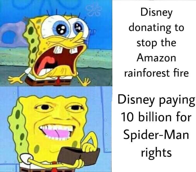 Spongebob = passes - meme