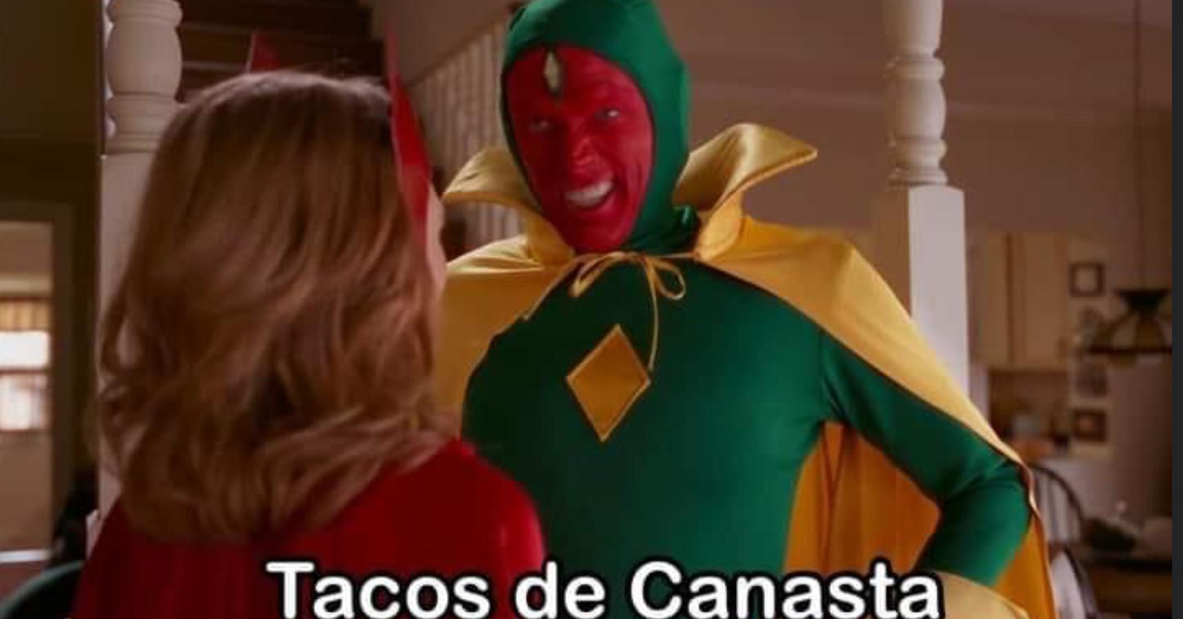 Tacos de canasta - meme
