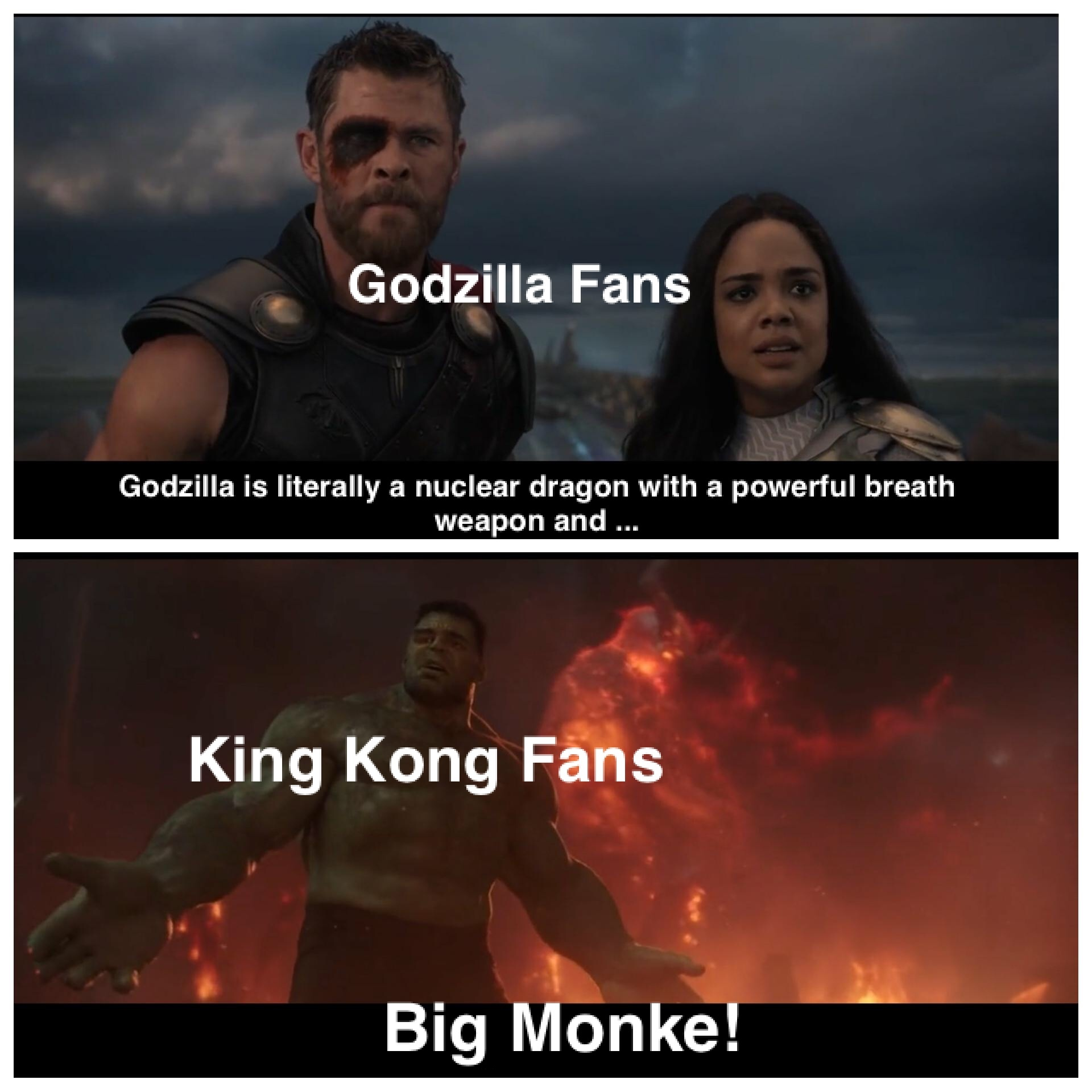 I'm on team kong lads - meme