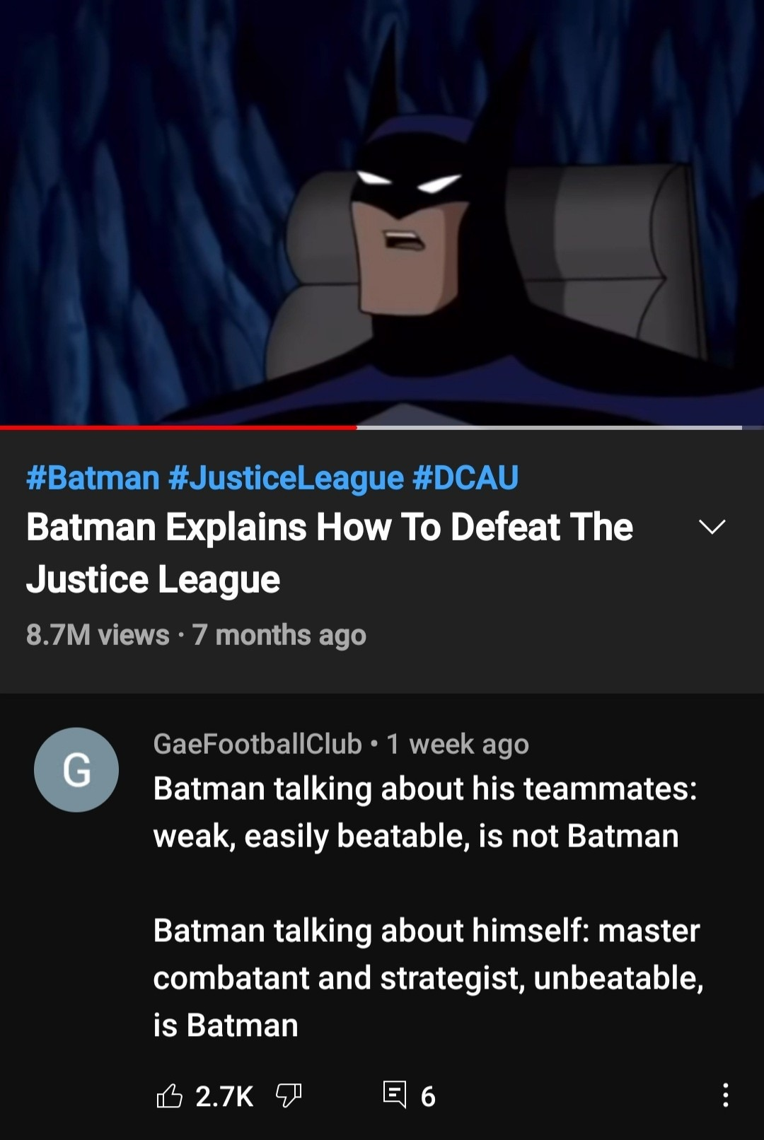 Lol fucking batman  - meme
