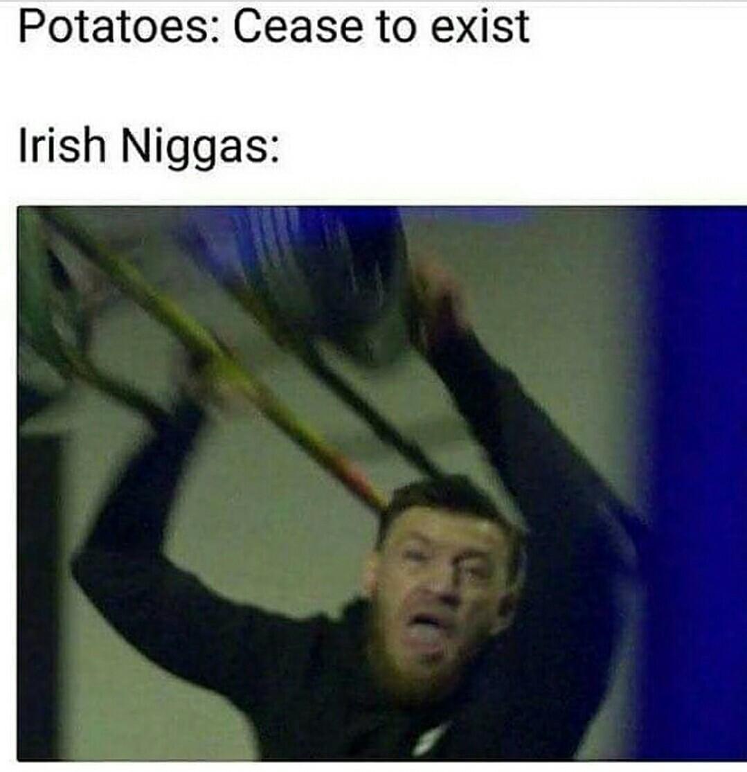 Ye feckin cunt of a potato - meme