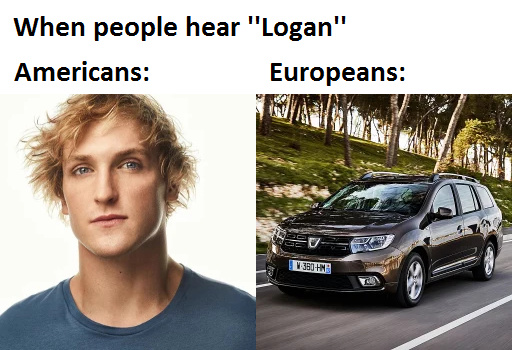 Logan Paul vs. Dacia Logan MCV - meme