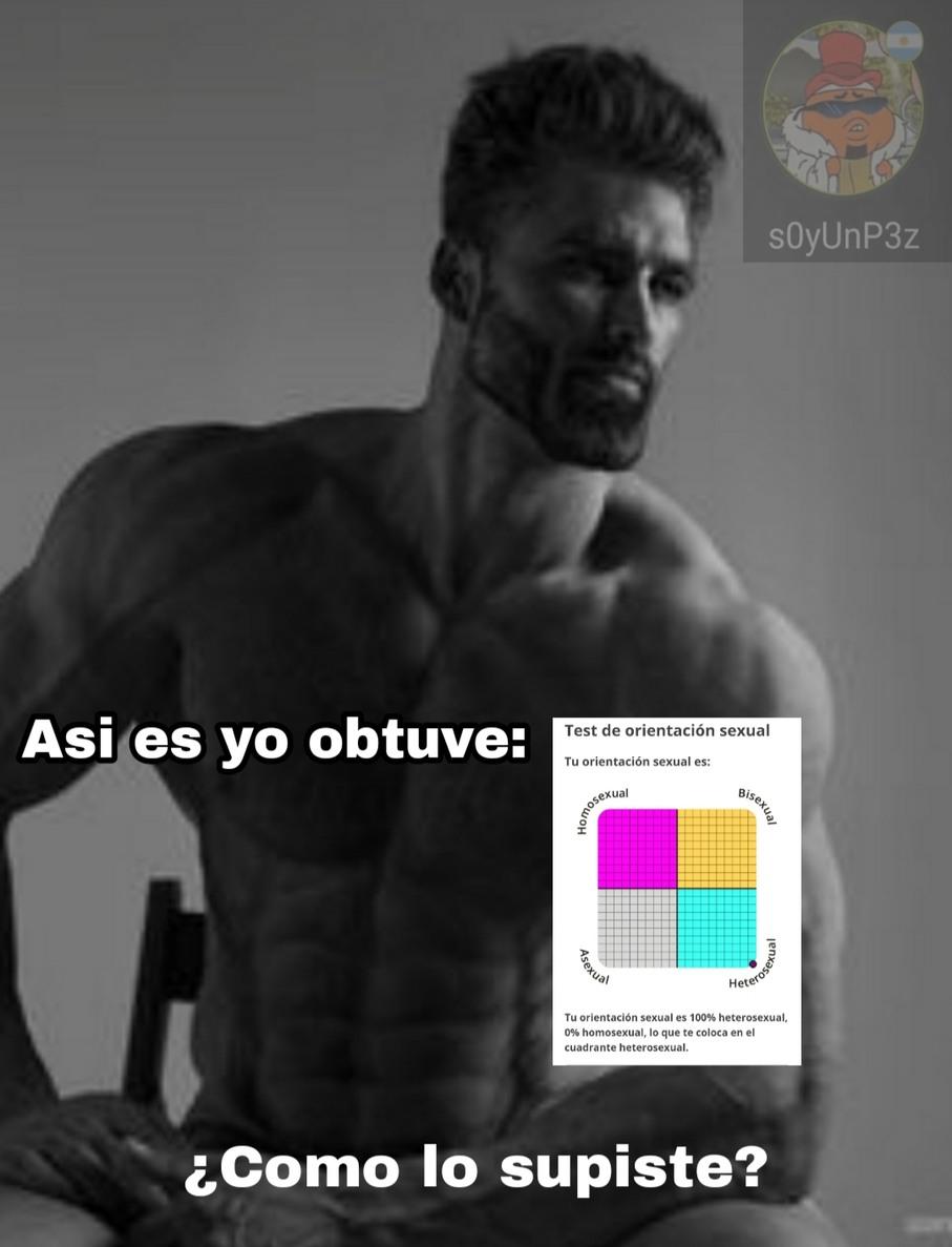 Falle en el test de homofobia - meme