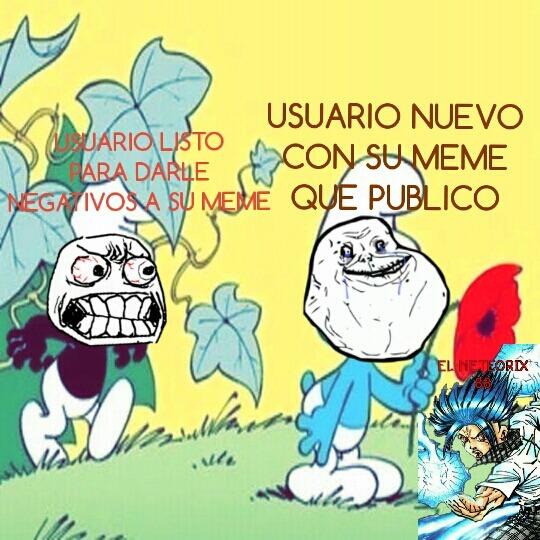 Rage face pitufos - meme