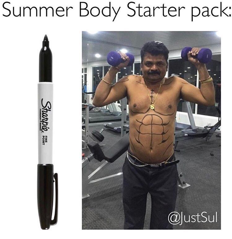 preparing for the SUMMER - meme