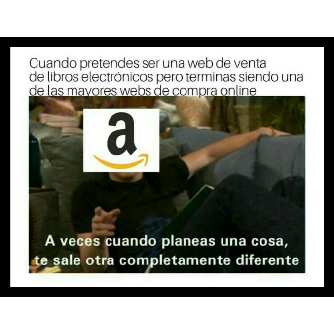 Los inicios de Amazon - meme