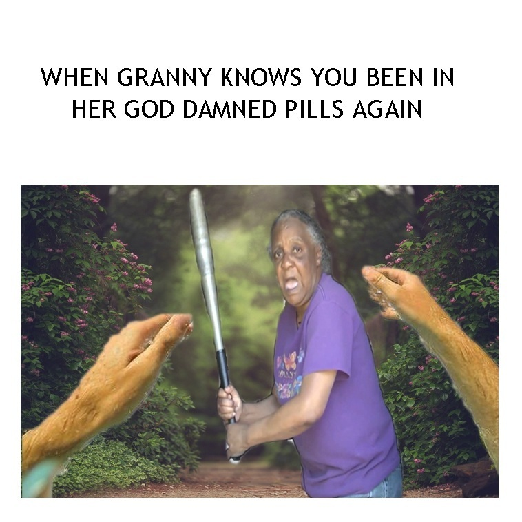 grannys pills - meme