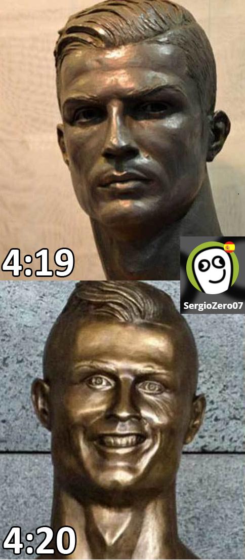 el nuevo busto de cr7 xD - meme