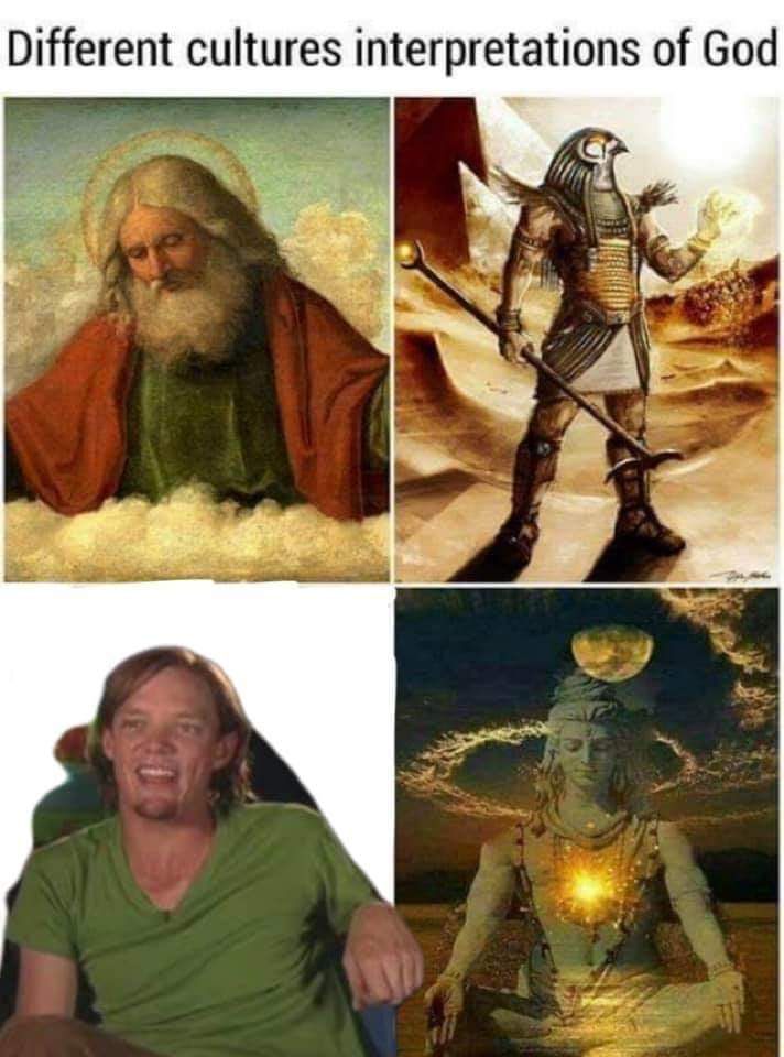 Different representations of Gods - meme