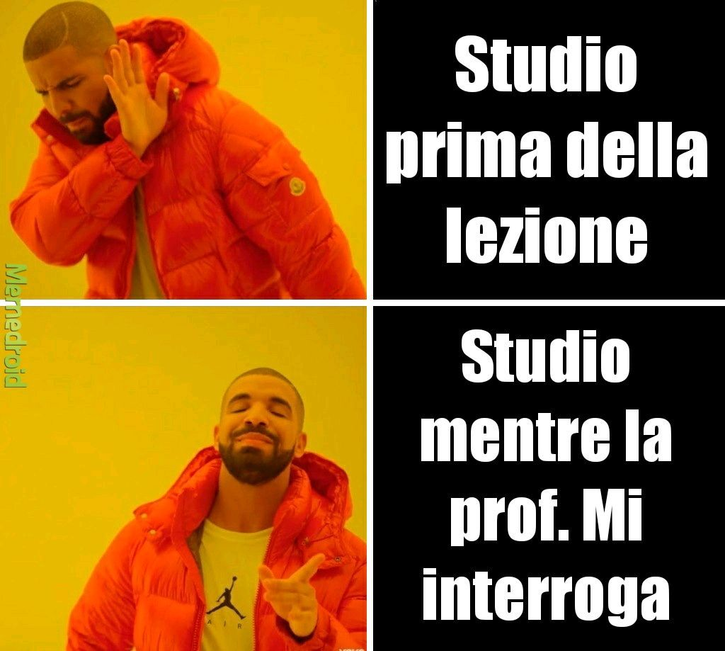 Scuola a casa - meme