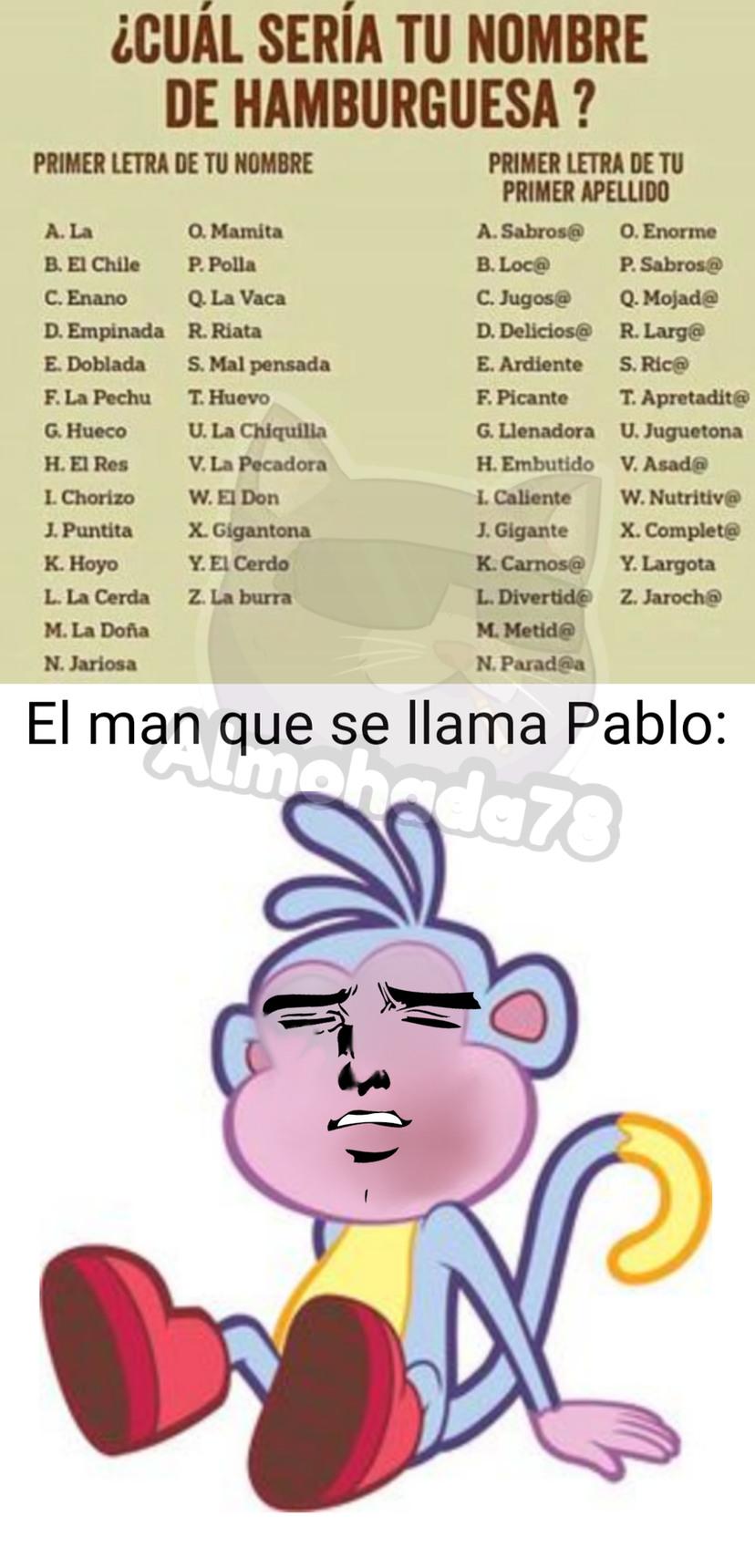 Pablo XD, la clave es leer la P - meme