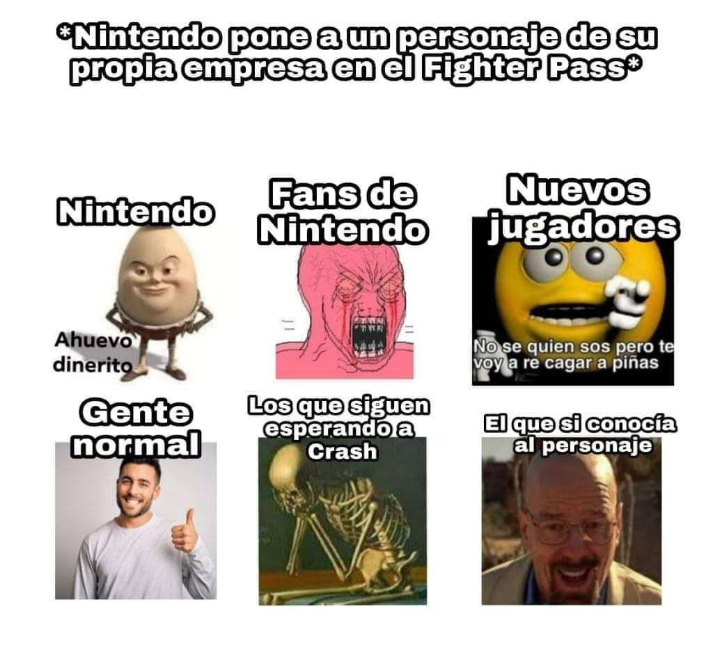 Maldita sea Nintendo pon de una puta vez a Rayman >:( - meme
