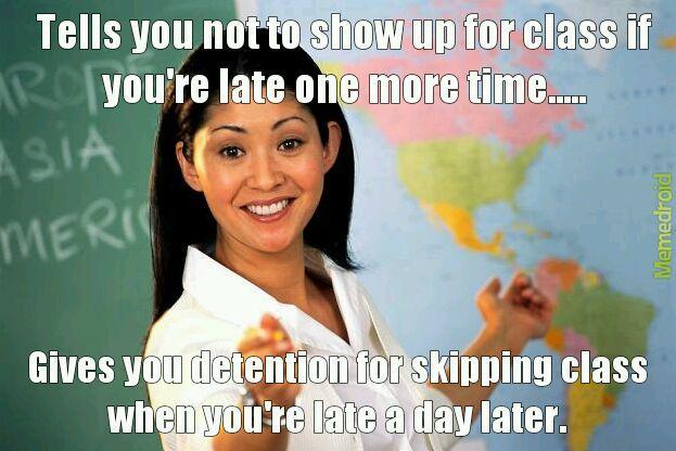 Teacher related title. - meme