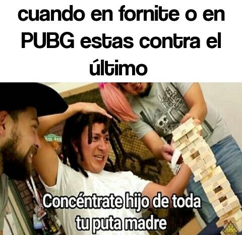 Fornite y PUBG - meme